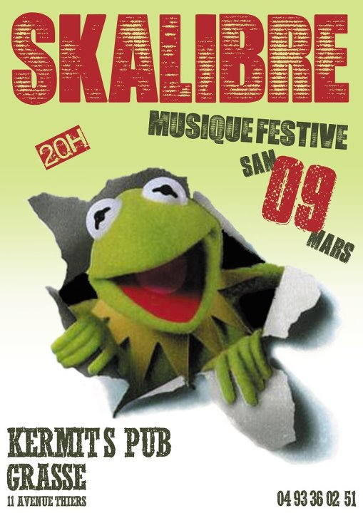 SAM 9 MARS tous au Kermit's Pub  Grasse