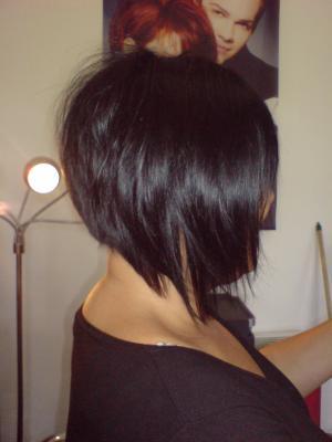 Tissage court avec frange klarys coiffure confort moyen coupe cheveux - Coupe carre plongeant tissage ...